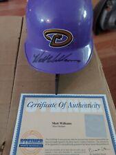 Matt Williams Autographed Arizona Diamondbacks Mini Helmet. Steiner.