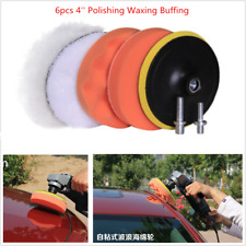 Car Thread Drill Polishing Sponge Pad Kit 6 PCS 4 Inch Buffing Pads Wax Polisher