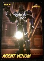 Marvel Dave & Busters Card AGENT VENOM (Non-Foil) Very UNCOMMON