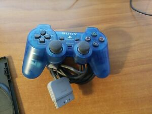 Playstation 1 Dual Shock Controller Clear Island Blue SCPH-110 PS1 *TESTED*