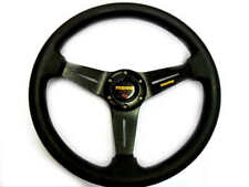 "New 14"" Black PU Sport Car Racing Steering Wheel + Horn Button (1)"