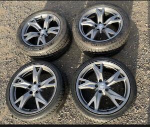 """Forged Rays alloy wheels 19 inch 19"""" 5x114.3 Nissan 350z 370z"""