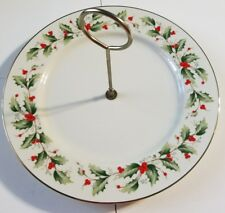 Royal Gallery China Christmas Holiday Holly Berry Serving Plate Tray Platter