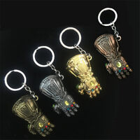 Thanos Infinity Gauntlet Gloves Keychain Keyring Pendant Avengers 3 Infinity War