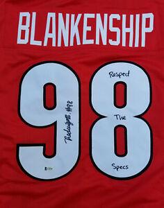 Rodrigo Blankenship Autographed Custom Jersey Georgia Respect Specs Beckett COA