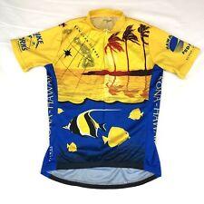 Primal Kona Hawaii Cycling Jersey Size M Short Sleeve Fish, Palm Trees, Islands