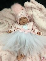REBORN BABY GIRL FIRST REBORN SPANISH OUTFIT WITH TUTU - 0129SU