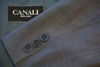 Canali Blue White Grid Pattern 100% Wool Sport Coat Jacket Sz 42R