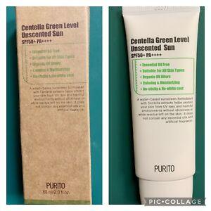 Purito Centella Green Level Unscented Sunscreen SPF50+ PA++++ (Exp 7/24/2023)