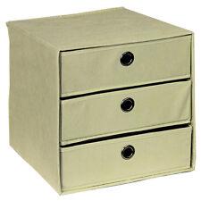 Aufbewahrungs-BOX Farbe beige 32 x 32 x 32 cm Schubkastenbox Faltkiste Boxen
