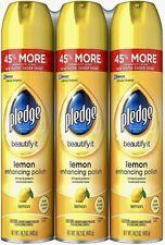 Pledge Lemon Scented Furniture Spray 14.2 oz. (3 Pack) Great Value & Service!!
