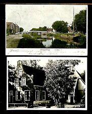 NEDERLAND 1906/1949 = SCHAGERBRUG = 2 x AK = FRAAI/PRACHT