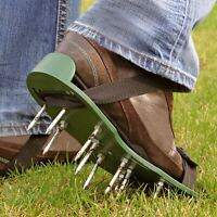 Ready Assembled Lawn Aerator Aerating Shoes Sandals 13 x 30cm Spikes Per Shoe