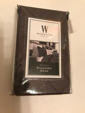 Wamsutta Standard Pillow Sham Ink Smoke New Textured Fabric