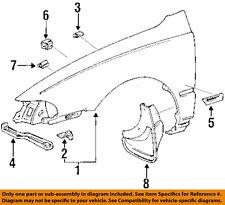 TOYOTA OEM 93-97 Corolla-Front Fender Quarter Panel Left 5380202050