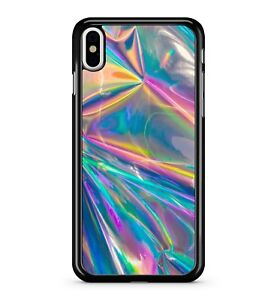 Printed Holographic Rainbows Trippy Funky Colourful Dope 2D Phone Case Cover