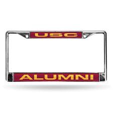 Southern Cal USC Trojans NCAA Alumni Chrome Metal Laser Cut License Plate Frame