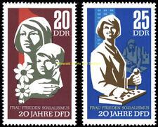 EBS East Germany DDR 1967 Democratic Women's Federation Michel 1256-1257 MNH**