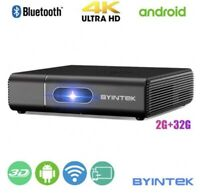 BYINTEK U30 Pro 4K  STEREO Mini  4000 Lux LED DLP 3D 4K Projector 2 Speakers