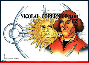 1301 BRAZIL 1973 NICOLAU COPERNICO, ASTRONOMER, ASTROMOMY, SCIENCE, MI# B32 MNH