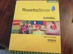 Rosetta Stone Espanol Spanish Latin America Homeschool 1, 2, 3, 4, 5, Ver 3