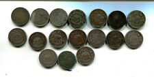 1866 1867 1868 1882 SHIELD NICKEL TRYPE COIN LOT OF 18 AG G VG 5961J