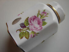 alte Teedose, Rosen Dekor, Royal Gouda Porcelain Koninklijke Zuid - Holland