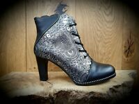 Laura Vita // Alcbaneo // Womens Black & Pewter Boots // NEW For AW19