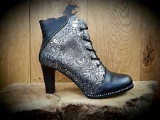 Laura Vita Alcbaneo Black Lace Boots
