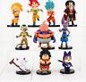 10pcs/lot 4-9cm Dragon Ball Z Figure Toy Goku Vegeta Super Saiyan Hercule