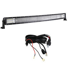 42inch 4 Rows Curved Led Work Light Bar Combo+Wiring For Truck Boat Trailer Car