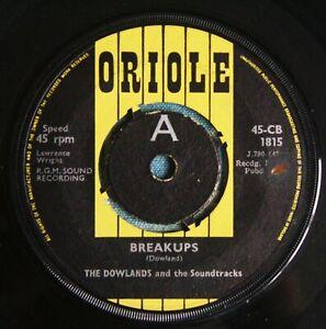 "THE DOWLANDS Breakups UK DEMO 7"" Joe Meek RGM Oriole CB 1815 VG 1963"