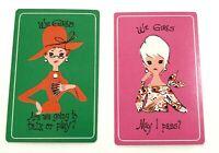 Pair of Swap Playing Cards Vintage We Girls Set B