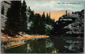 "1914 Rocky Mountain National Park RMNP Postcard ""GEM LAKE Estes Park"" RPO Cancel"