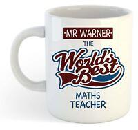 Personalised Worlds Best Maths Teacher Mug - Custom School Leaving Gift