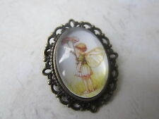 Vintage Bronze Plated Flower Fairies Daisy Fairy Brooch New in Gift Bag