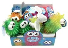 Puffer caterpillar stretchy squeezy stress toy - one supplied - assorted colours