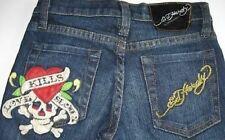 Ed Hardy Girls 5-Pocket LKS Skull/Heart Jeans (7) NWT