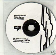 (J568) Concrete Plastic, Another Generic Label - DJ CD