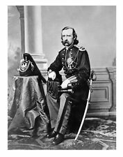 Lt. Col. George Custer Portrait PHOTO, 7th Cavalry Commander, Post Civil War Pic
