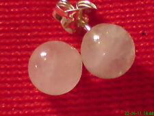 STERLING SILVER PRETTY ROSE QUARTZ SMALL  6mm BALL STUD EARRINGS only £7.50  NWT