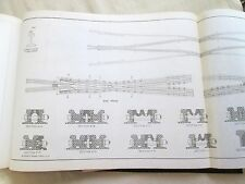 A.R.E.A. TRACKWORK PLANS American Railway Assoc 1920s!