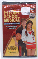 2008 Topps Disney High School Musical Expanded Edition Pack 4 Cards 3 Stickers