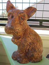 VINTAGE ORIGINAL WILTON SAD PUPPY CAST IRON DOG ART STATUE HOME GARDEN DOORSTOP