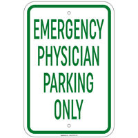 """Emergency Physician Parking Only Sign 8""""x12"""" Aluminum Signs"""