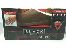 Memory Foam Slippers Mens Large size 9-10 Brown