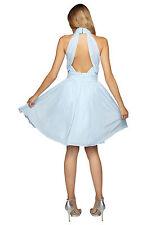 APART Abendkleid 40 Chiffonkleid Damenkleid Cocktailkleid eisblau 25352 300