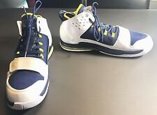 New Air Jordan Evolution Blue Yellow California Golden Bears Shoes Men's Size 15