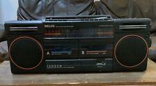 Retro Philips Boom Box Radio Cassette Player
