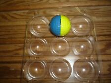 1 Used Ping Golf Ball Yellow & Royal Blue with the Woodstock Country Club logo